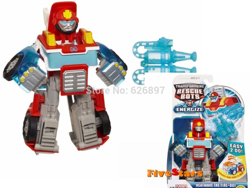 Hot Sale Original Brand Playskool Heroes Rescue Bots Energize Heatwave the Fire-Bot Transformation Birthday Gifts Toys For Boys(China (Mainland))