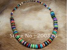TNL325  Tibetan colorful Yak Bone Beads Female Necklace Wholesale Tibet Tribal Ethnic jewelry Necklaces(China (Mainland))