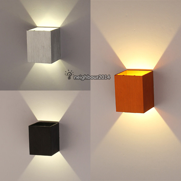 New Modern 3W LED Square Wall Lamp Hall Porch Walkway Living Room Light Fixture Indoor Lighting(China (Mainland))