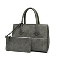 Ladies Chic Exquisite Hand Bag Occident Style Fashion Bag Retro Nubuck Leather Composite Bag Women Designer