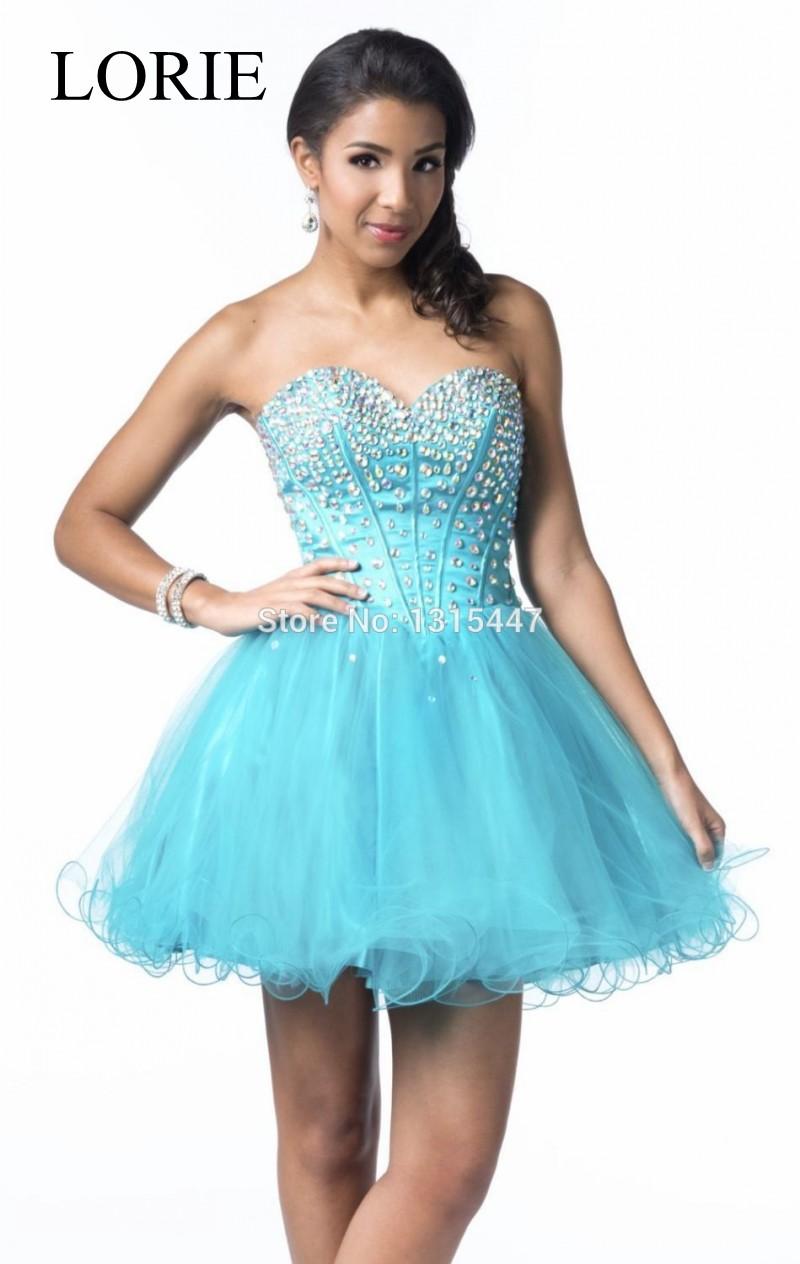 High Quality Light Blue Prom Dresses Short-Buy Cheap Light Blue ...