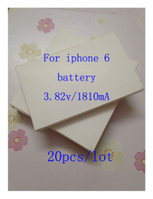 20pcs/lot 2016 new Battery for iPhone 6 iPhone6 4.7 inch Cell phone Battery Batteries Rechargeable Li-ion