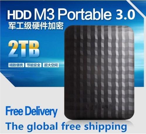 "hot! Hard disk M3 1.tb/2 TB 2.5 ""3.0 Portable USB Hard Drive HDD Black External Hard drives 3 Year giant Exempt postage(China (Mainland))"