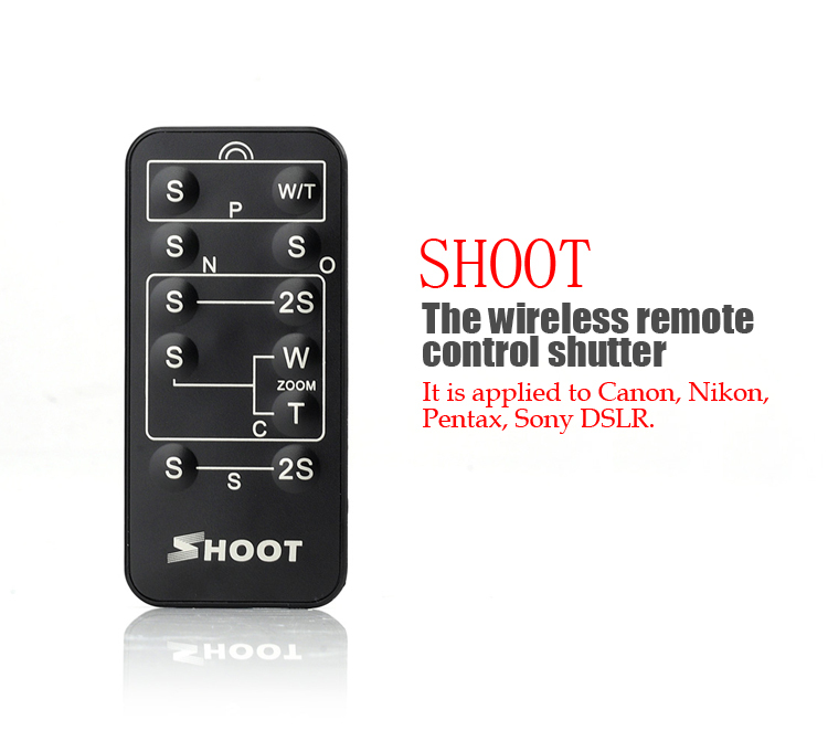 Shoot Multi-Function 5 in 1 Wireless Camera IR Remote Control Shutter Release for Canon Nikon Sony Pentax Minolta Konica(China (Mainland))