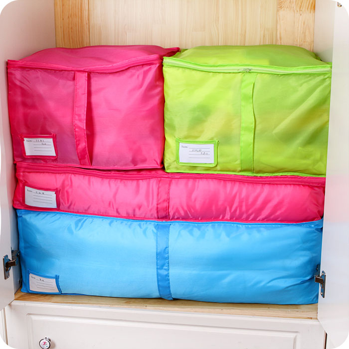 Multicolor Clothes Quilt Packaging To Receive Bag Can Wash Large Storage Bag Receive Arrange Bag With Zipper Clothes(China (Mainland))