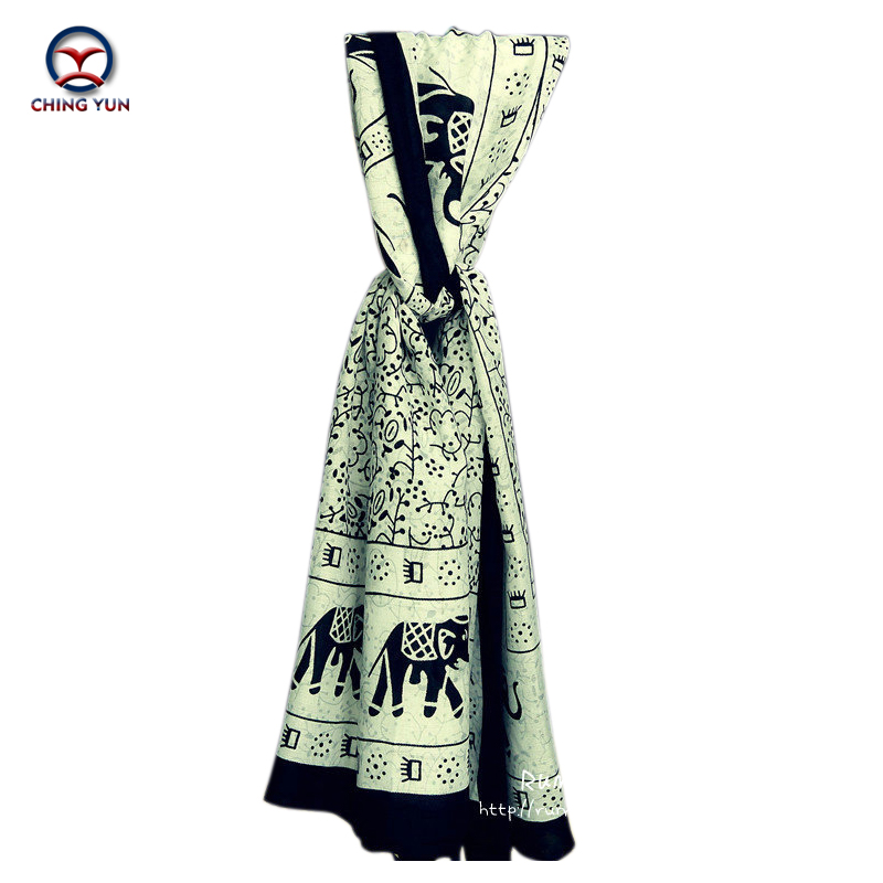 New fashion 2016 hot sale national elephants printing twill cotton woman scarf lady shawls women wrap scarves free shipping(China (Mainland))