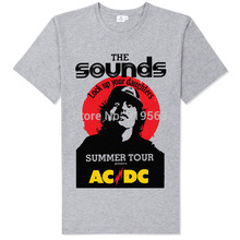 Buy Rock Fashion ACDC Lock Daughter printing high comfortable modal cotton t shirt new arrival for $10.99 in AliExpress store
