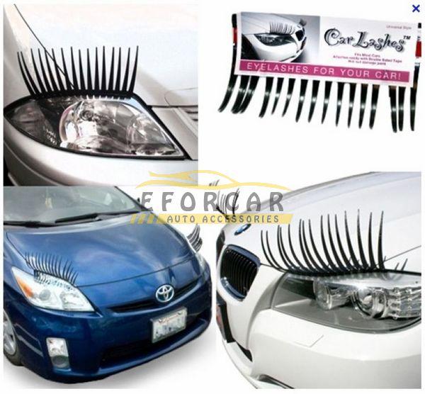 200X Fashion Car Styling Decal Black Eyelashes Vehicle Car Headlight Decorative Sticker 3D Charming Black Car Eyelashes EA1007(China (Mainland))