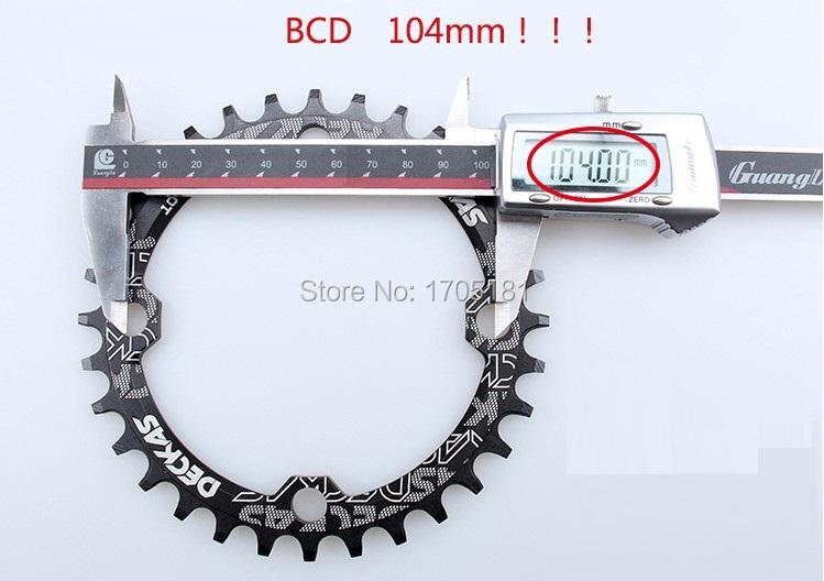 MTB 32T Chainring BCD104mm Mountain bike cycling crankset driveline Kettenblatt 41g 9 ,10, 11 speed Narrow Wide tooth(China (Mainland))