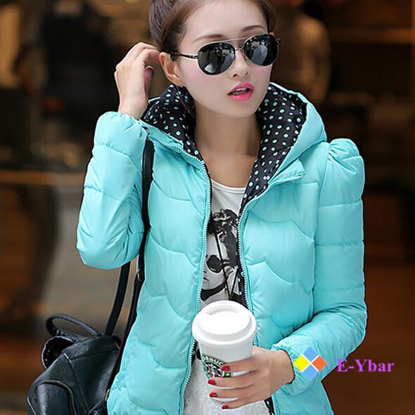 2015 New Good Quality Gentle Black White Women's Short Style Fashion Hat Slim Winter Warm PU Leather Jacket Outwear Coat - The E-Ybar Co. Ltd store