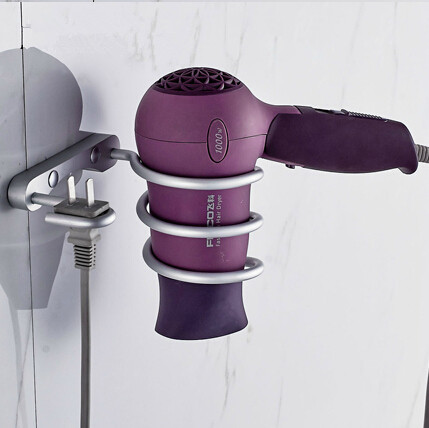 Bathroom shelf dryer rack with holder hair dryer rack Households Rack Hair Blow Dryer Holder Aluminum Shelf Bathroom Accessories