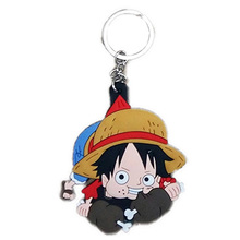 Wholesale In stock faster shipping One piece Anime cartoon Keychains action toy figures pendant Key Chains Collection model toy(China (Mainland))