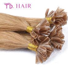 #16 14-26inch Pre-Bonded Nail UTip Hair Extensions Human Silky Straight 7A grade100%human virgin hair cheap u tip hair on sale
