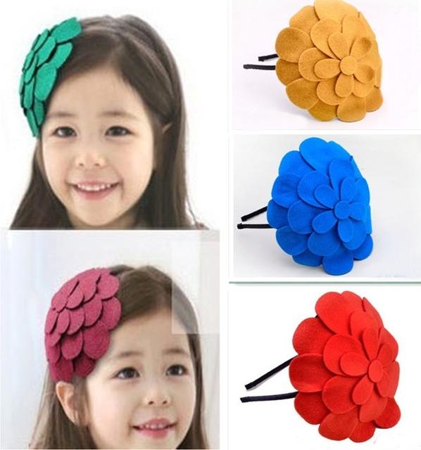 Новый большой цветочные ребенков Hairband прекрасный повязки для детей аксессуары ...