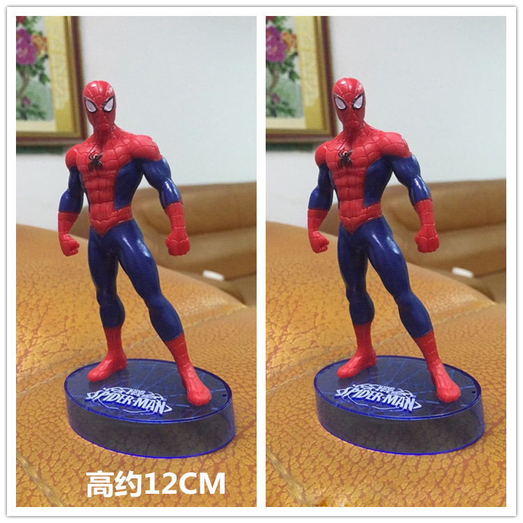 Free Shipping Spiderman Toys Scale Models Brinquedos Superman Action Mini Anime Figure For Children As Christmas Gifts(China (Mainland))