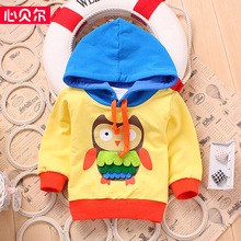 Infant baby Boy Girl sport pullover coat Kids casual hoodies sweatshirt children cotton spring autumn clothes 3 colors 0-3 Y (China (Mainland))