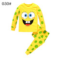 Boys Girls Long sleeve Cotton Sponge Cartoon Clothing Set Autumn Winter hoody Pants two pieces casual
