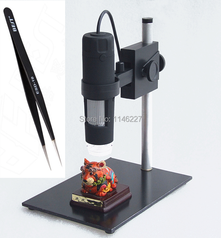 1000X 2MP USB Digital Microscope with holder stand 8LED Digital Microscope Magnifier+1pcs tweezers Free shipping(China (Mainland))