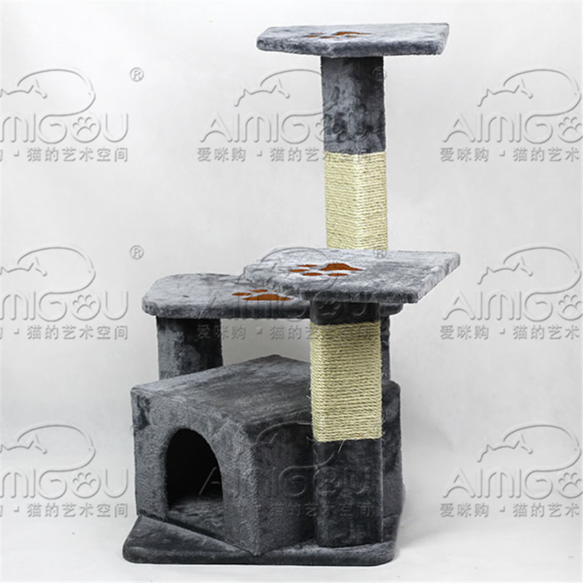 """Free Shipping! New Design 35"""" Kitten House Cat Tree Pet Exercise Play Toy Scratching Board Condo Furniture(China (Mainland))"""