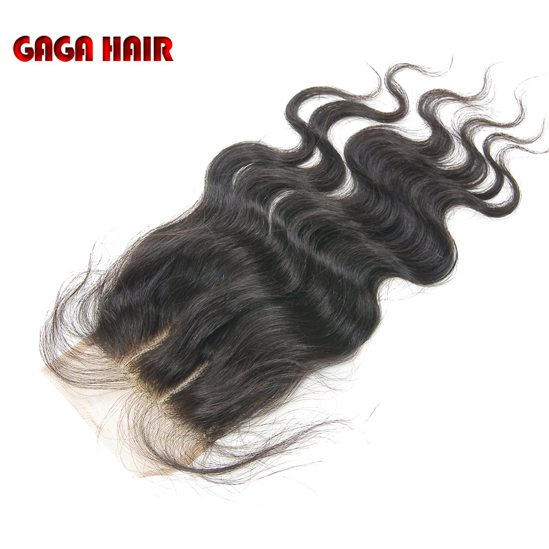 "Фотография 100% Malaysian Virgin Human Hair Body Wave Lace Top Closure 5X5"" Bleached All The Knots 2 Way Part Hair Piece Free Shipping"
