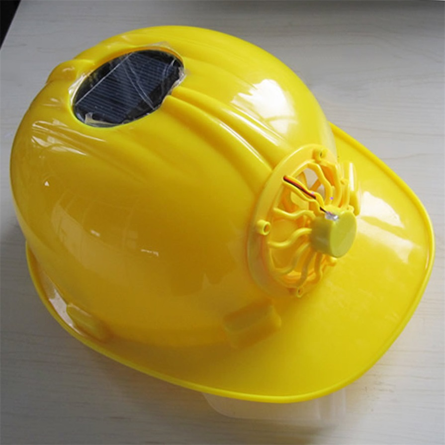 Classic Solar energy Safety Helmet Hard Ventilate Hat Cap Cooling Cool Fan Delightful Cheap And New Hot Selling(China (Mainland))