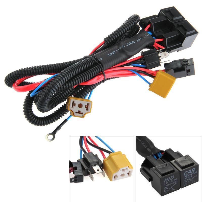 carchet h4 9003 headlight booster wire harness connector relay fuse socket black h4 headlight