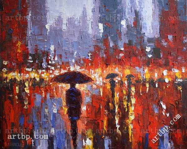 Colorful Rain - Limited Edition High Quality Reproduction By R.Virbickas Canvas Art Photo For Picture Classic Contemporar(China (Mainland))