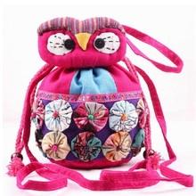 Linen cotton chinese national embroider children school messenger bags kids mini shoulder bag small pouch for kindergarten girls(China (Mainland))