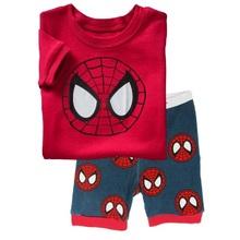 Spider-Man 2015 Summer Children's Pajamas Boys Pijamas Suits Kids Tee Shirts Tops Trouser Pyjamas - Best Baby Items r store