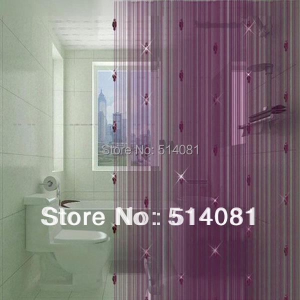 100 200cm dark purple sparkle beaded string door window - Purple beaded door curtains ...