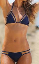 Bikini Set New Design Mesh Patchwork Halter Swimsuit Swimwear Bathing Suit Free Shipping 913(China (Mainland))