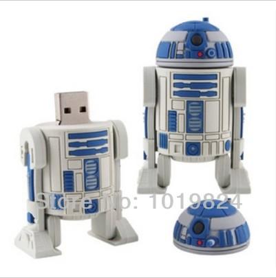 100% real capacity Star War Series Robot USB Flash 2.0 Memory Drive Sticks Pen Disk 4GB 8GB 16G Rubber S40 #AA(China (Mainland))