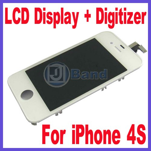 Quality Guaranteed For iPhone 4S LCD Display Screen WIth Touch Panel Digitizer Free Shipping(China (Mainland))