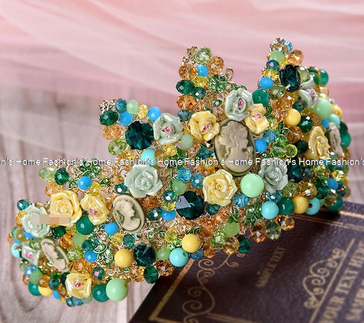 Crown retro baroque palace wedding tiara crown queen stage of jewelry wedding tiara scene Queen hair accessories F06<br><br>Aliexpress