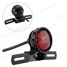 Motorcycle LED Red Rear Tail Brake Stop Light Lamp For Cafe Racer Chopper Bobber(China (Mainland))