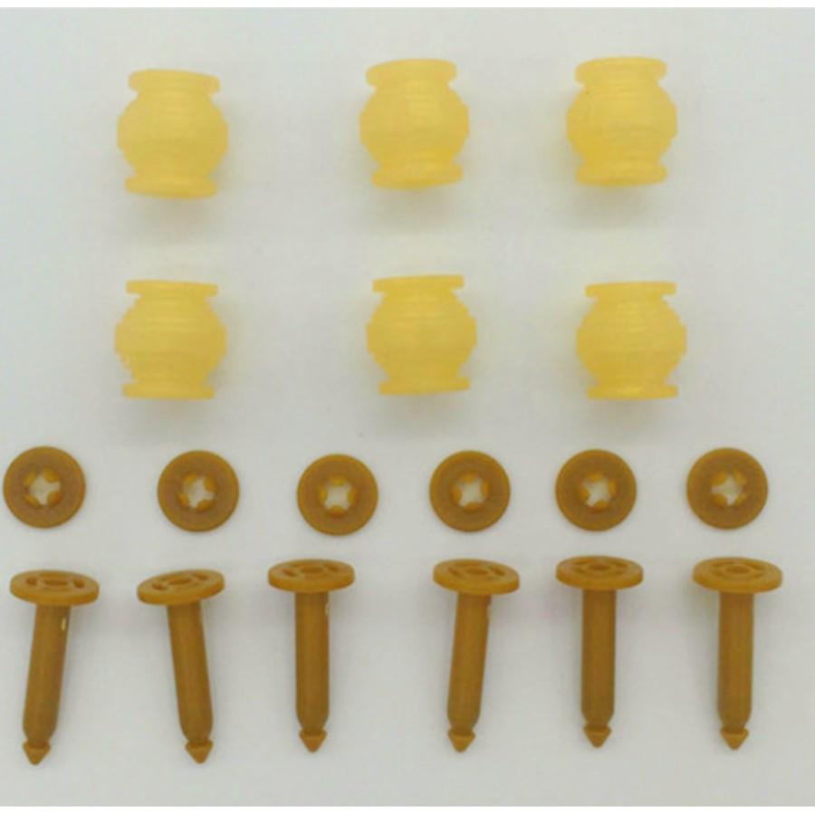 6Pcs Gimbal Anti Drop Pins + 6Pcs Anti Vibration Rubber Ball Damper for DJI Phantom 3 Gimbal Camera Parts Accessories