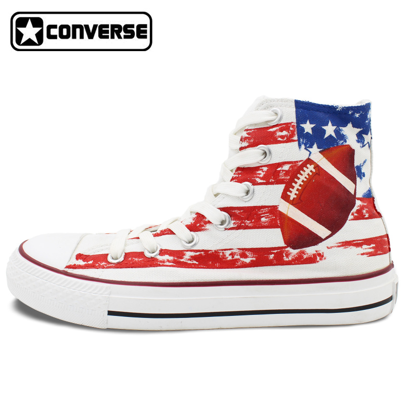 Men Women Converse Chuck Taylor Rugby Original Design Hand Painted Shoes Man Woman High Top Canvas Sneakers Birthday Gifts(China (Mainland))