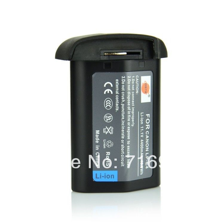 DSTE 11.1V 4400mAh LP-E4 LPE4 Battery Canon EOS 1D Mark III mark4 Camera new  -  Monday Li's store store