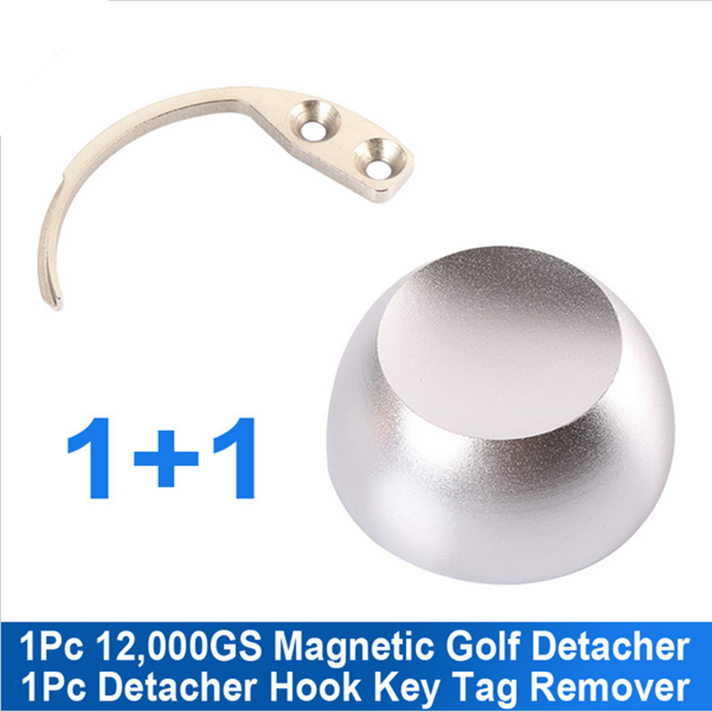 1+1 eas system 1pc12000GS golf detacher magnetic security tag detacher eas super security tag +1pc detacher hook free shipping(China (Mainland))
