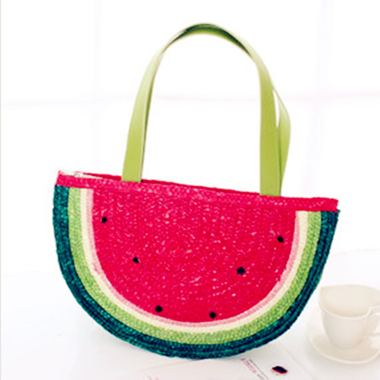 Straw bag Manufacturers selling straw bag vivi magazine New Summer bag fresh red watermelon(China (Mainland))