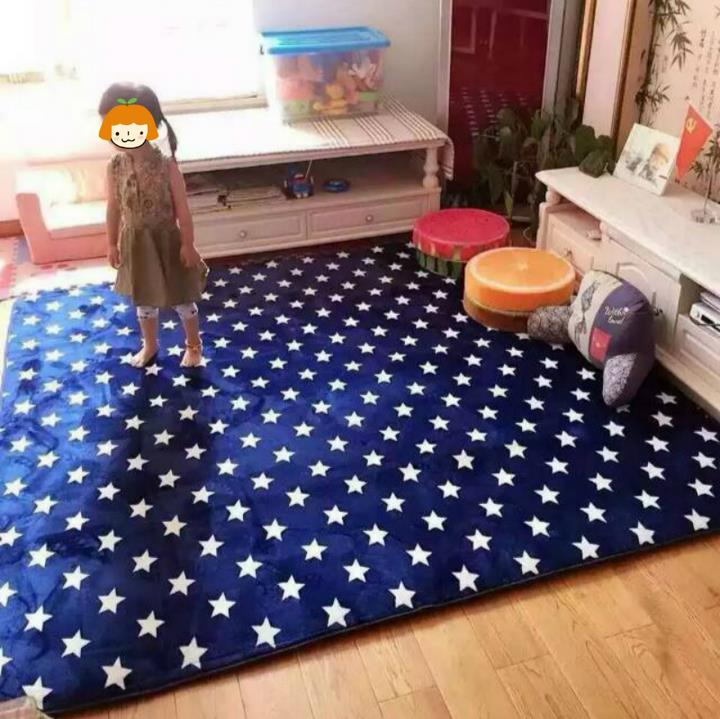 150X195CM Thicken Cloud Velvet Big Carpet For Living Room Classic Stars Bedroom Rugs And Carpets Coffee Table Area Rugs Play Mat(China (Mainland))