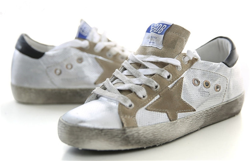 2015 Italy Brand Golden Goose Superstar Casual Shoes Genuine Leather Men Women Low-Cut Breathe Shoes GGDB Scarpe Basse