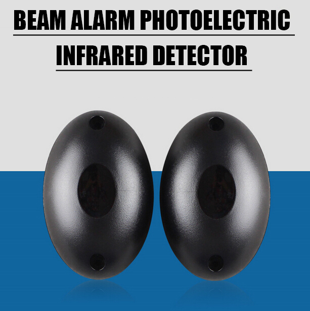 Black Infrared Sensor Single Beam Alarm Photoelectric Infrared Detector Home Door Security System(China (Mainland))