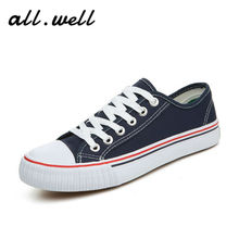 Sale 2016A/W Canvas Shoes Womens Lace-up Casual Fashion Women Flats Zapatos mujer Plus Size Shoe Black/White P1 - All Well Store store