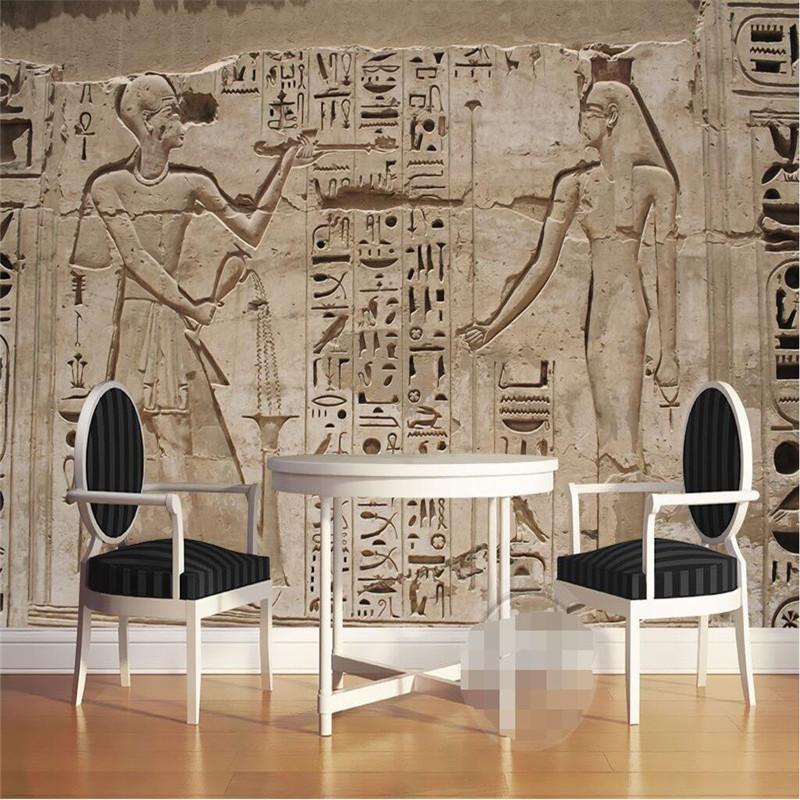 Egypt paper promotion shop for promotional egypt paper on for Egyptian mural wallpaper