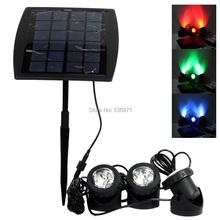 1pc Waterproof IP68 Portable LED Outdoor Solar Powered Spotlight RGB/Cold White Led Landscape Light Solar Garden Lamp(China (Mainland))