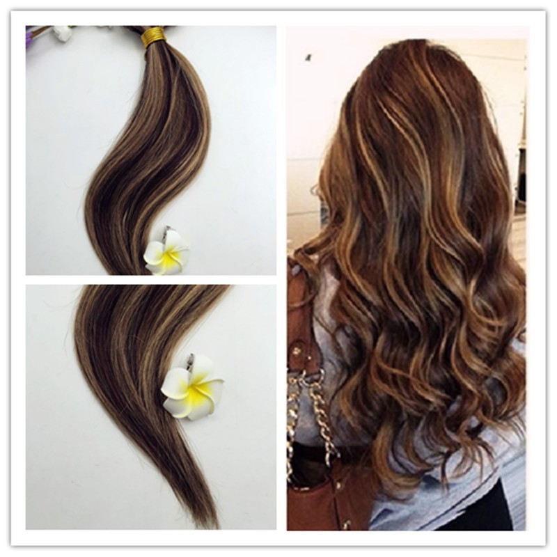 Full Shine 2016 New Fashion Balayage Ombre Hair Bundle Color #P3#27 100% Human Hair Weaving Cheap Human hair 100g Lot