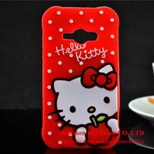 Samsung Galaxy J1 Ace J110 Case 3D Lovely Cute Hello Kitty Kt Cat Silicon Back Soft Cover Phone - Shenzhen HQ Trade CO.,LTD store