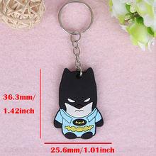 SUTI المنتقمون المفاتيح كابتن أمريكا الرجل العنكبوت باتمان مفتاح حلقة انمي ياباني حامل Chaveiro مفتاح سلسلة حقيبة قلادة مجوهرات(China)