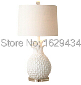 Pineapple shape lovely desk lamp; living room decoration;resin & acrylic table lamps(China (Mainland))